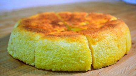 真正懒人电饭锅蛋糕, 做法超简单, 2分钟学会, 家人小孩特别爱吃