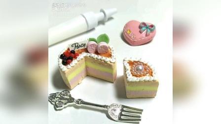 彩虹千层奥利奥蛋糕, 手工粘土也超棒!
