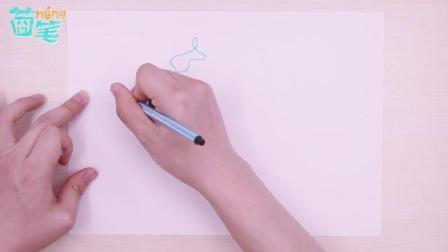 2岁宝宝就能玩的创意美术, 动物一笔画轻松GET