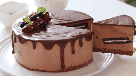 自制巧克力冰淇淋蛋糕, 冰凉爽口的夏季甜品
