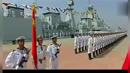 解放军海军阅兵仪式, 同样的威武霸气, 帅气冲天