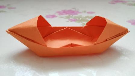 [折纸-视频教程]手工折纸, 如何折叠一只船, 超级简单的船折纸(五)