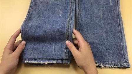 裤子长了不要剪, 聪明姑娘分享2个收裤腿方法, 不用花钱改裤脚了