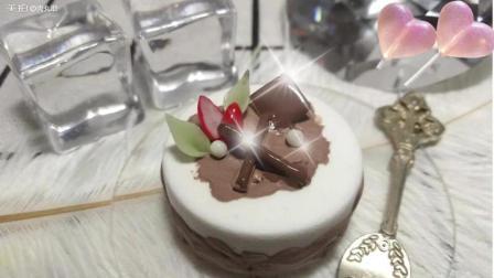 巧克力奶油草莓黏土蛋糕制作~来吃一口吧~