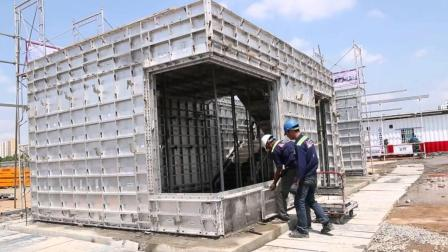 越南农村自建房用铝模板一体浇筑成型5天就盖好, 不怕出现空泡?