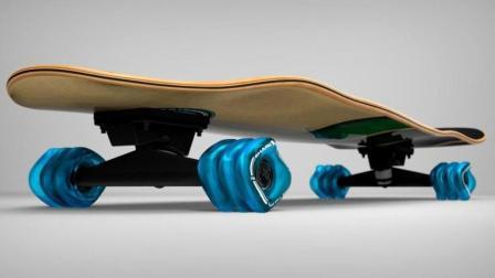 世界上最奇葩的滑板, 方形轮胎抓地力更强, 能秀的飞起!