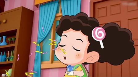 棉花糖和云朵妈妈:棉花糖饿了,小苹果给棉花糖拿出来蛋糕