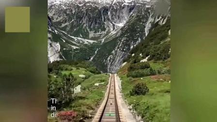 在瑞士的世界最陡悬崖铁路, 列车就如同过山车, 有胆你就去试试!