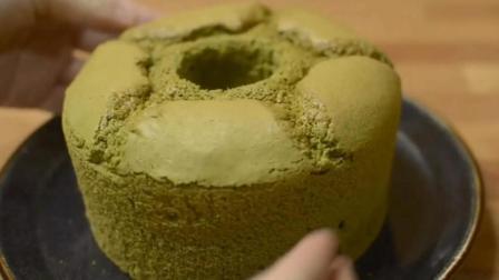 不再气疯, 第一次做戚风蛋糕就成功, 抹茶味的, 全程拍摄请您观摩
