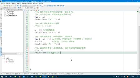 Go语言快速入门_变量初始化和自动推导类型