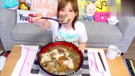大胃王木下吃牛筋炖萝卜 看着吃的真是太有食欲了