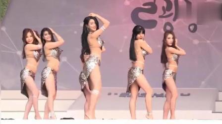 韩国性感肚皮舞, 广场表演, 这身材这舞蹈