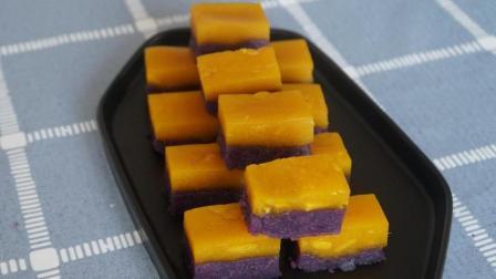 紫薯和南瓜做成的糕点, 做法简单香甜可口, 太好吃了!