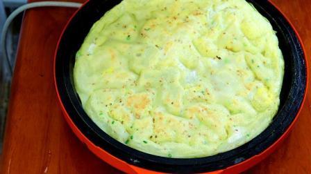 不揉面不发面手不沾面, 10分钟做暄软美味的早餐鸡蛋饼, 又软又香