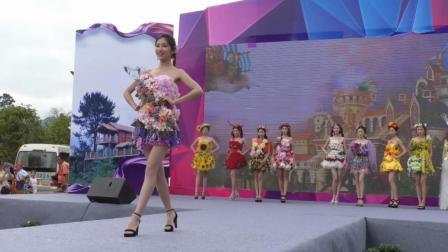 重庆小姐20强在桐梓黔北花海走秀, 太美了