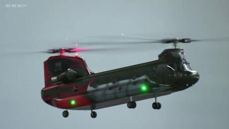 仿真遥控航模表演 CH-47运输直升机
