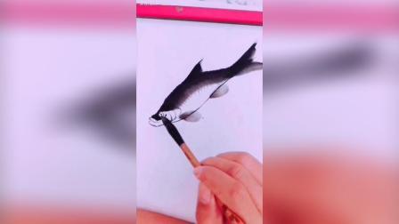 最简单的画鱼方法