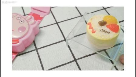 榴莲椰丝手工粘土蛋糕制作