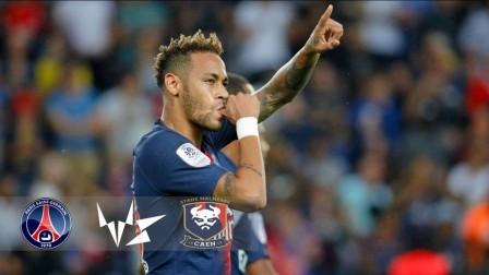 [10分钟集锦]法甲-内马尔破门布冯创纪录 巴黎3-0完胜卡昂取开门红