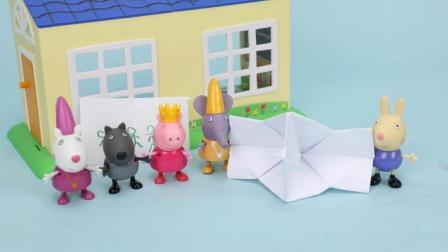 趣盒子小猪佩奇亲子早教 小猪佩奇会拍照的照相机自制玩具手工折纸亲子互动早教益智