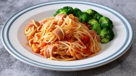 教你番茄意大利面的懒人做法, 配上这几种食材简单一炒, 方便省时