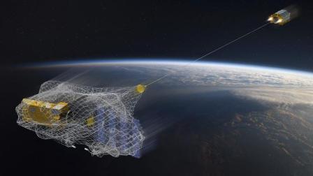空客研究太空渔夫, 这卫星能发射大网和鱼叉, 将太空垃圾一网打尽