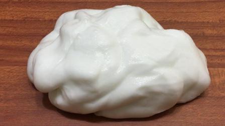做泥达人经典简易教程, 无硼砂创意DIY蓬松奶油史莱姆, 戳起来超解压, 特别像奶油蛋糕