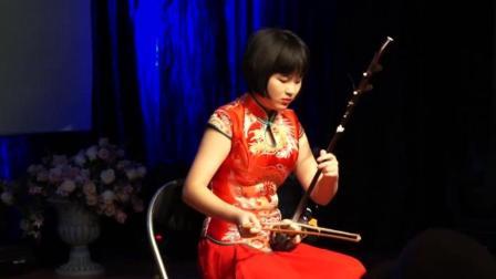 二胡的声音跟中国风歌曲竟然格外的配, 美女二胡独奏《卷珠帘》