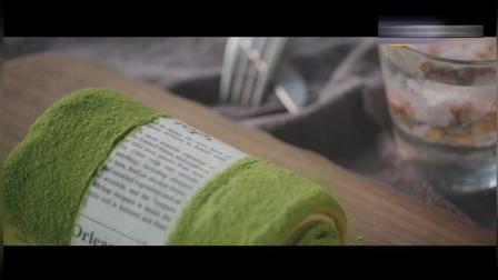 网红美食抹茶毛巾卷完整做法, 原来这么简单!