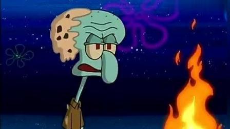 海绵宝宝微电影: 笑的肚疼, 派大星烧烤突然着火, 烧了自己