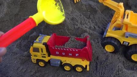 挖掘机动画视频儿童动画片 挖掘机工作视频