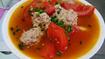 番茄丸子汤做法简单 具有开胃消食功效 美味而且健康