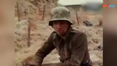 《西线无战事》德军士兵战场运送粮食, 炮火流弹波及长官受伤
