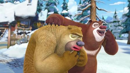 熊出没: 强哥被烧成了香肠嘴, 需要熊二做熊熊呼吸