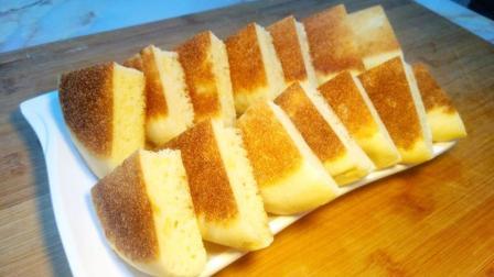 面包饼很简单的做法, 不用烤箱, 还不用一滴油, 做出来比蛋糕还香