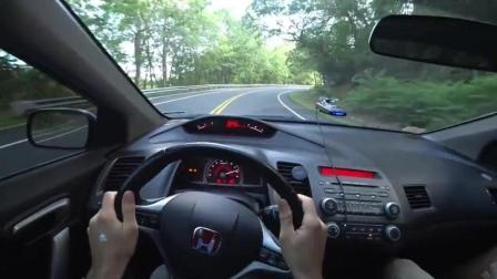 第一视角驾驶2009 红标本田思域 Si  275马力 建议带耳机食用