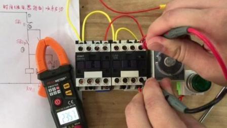 时间继电器控制两台电机顺序启动一键停止, 接触器不自锁的原因