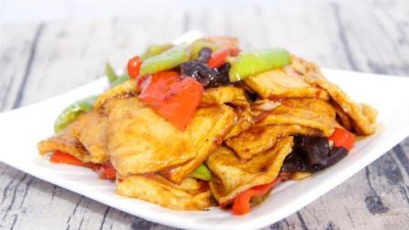 酱烧千叶豆腐, 只需调制一碗酱汁, 千页豆腐就可以做的比肉都好吃!