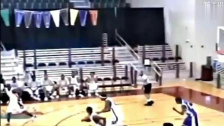 打篮球的杜兰特高中时期攻防集锦, 那时实力就强