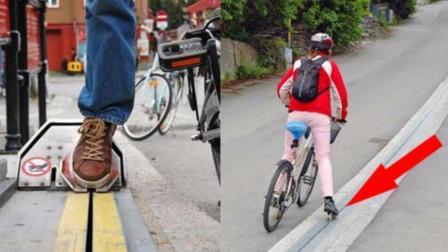 自行车也有专门电梯, 别看简单, 世界上只有这一个!