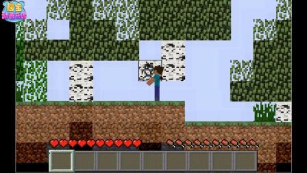 我的世界动画 如果我的世界是一款2D游戏会发生什么