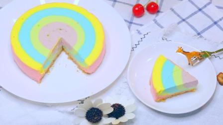 节给他(她)做个彩虹慕斯蛋糕吧