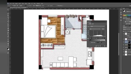 室内设计方案图PS后期渲染
