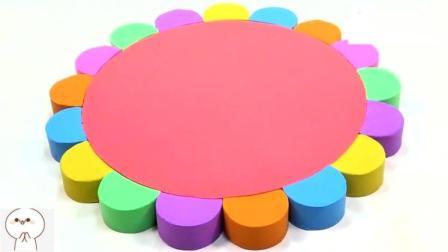 早教益智手工, 太空沙制作彩色向日葵蛋糕!