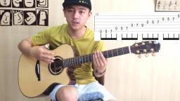 【潇潇指弹教学】《waiting for you》第四部分吉他指弹教学