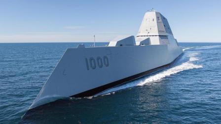 为了安装电磁轨道炮, 美军研发出这款科幻的战舰