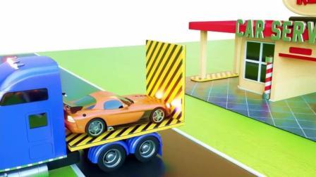 挖掘机大卡车修建城堡桥梁 模拟施工 挖掘机工作视频表演