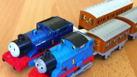 托马斯小火车 玩具分享英语 05 rare thomas and friends toy trains play set wit