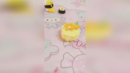 嘿, 芒果千层轻黏土迷你蛋糕