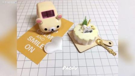 DIY菠萝奶油粘土蛋糕制作教程